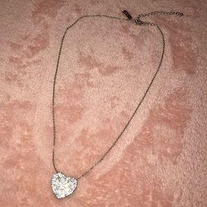 Aeropostale Pave Heart Necklace